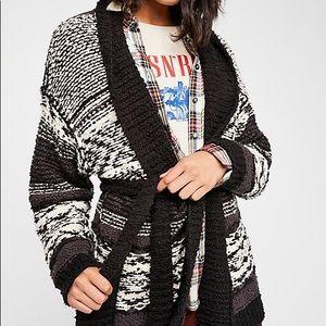 NWT free people Cozy Cabin Cardi Sweater